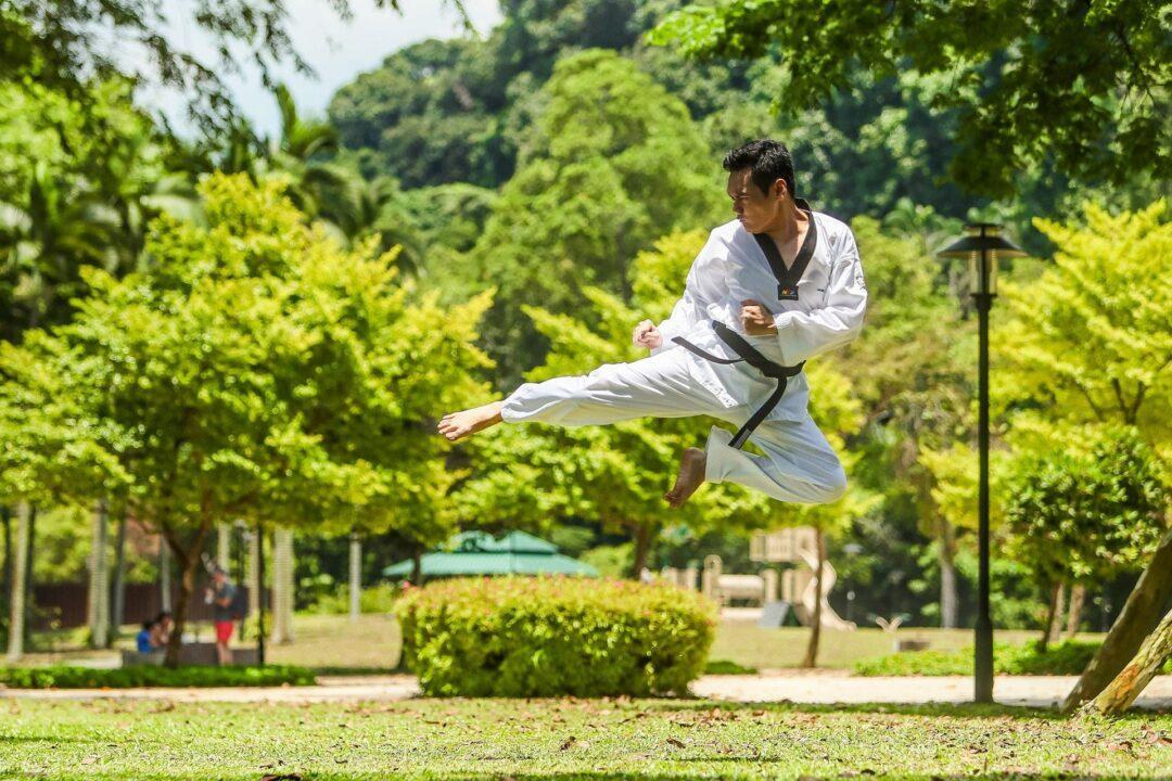 Cours de Kung Fu en extérieur à l'Espace Cityz'en Paris